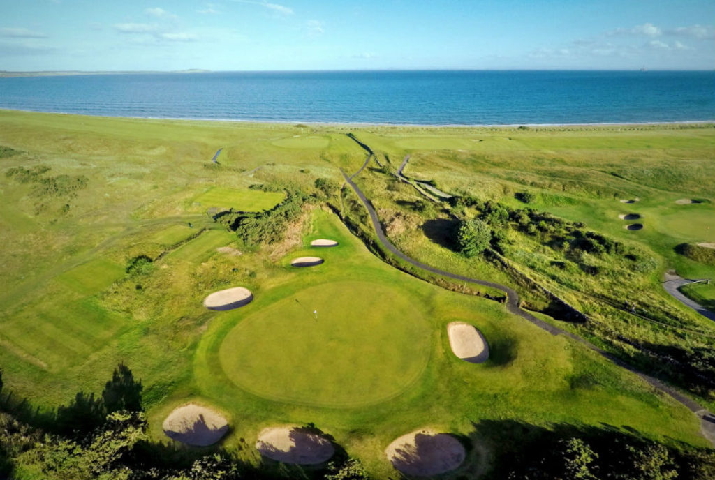 Lundin Links 5th green aerial view