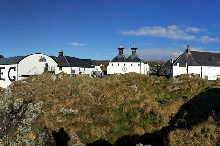 View of the Ardberg Whisky Distillery