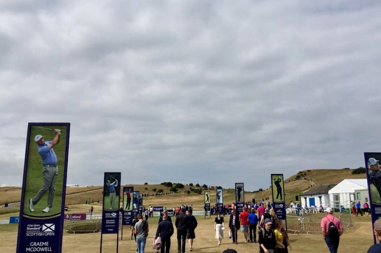 Entrance to the Scottish Open 2018