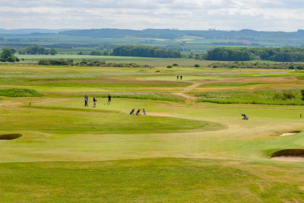 Golfers at Gullane Golf Club