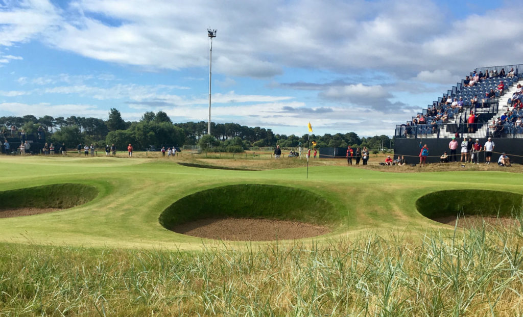 6th hole carnoustie open 2018
