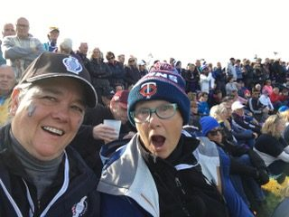 Clients at 18th hole Solheim Cup 2019