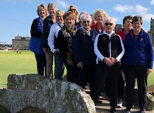 Clients on Swilcan Bridge Old Course