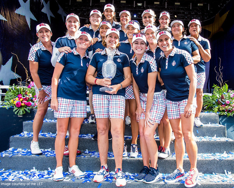 USA Team with Trophy Solheim Cup 2017