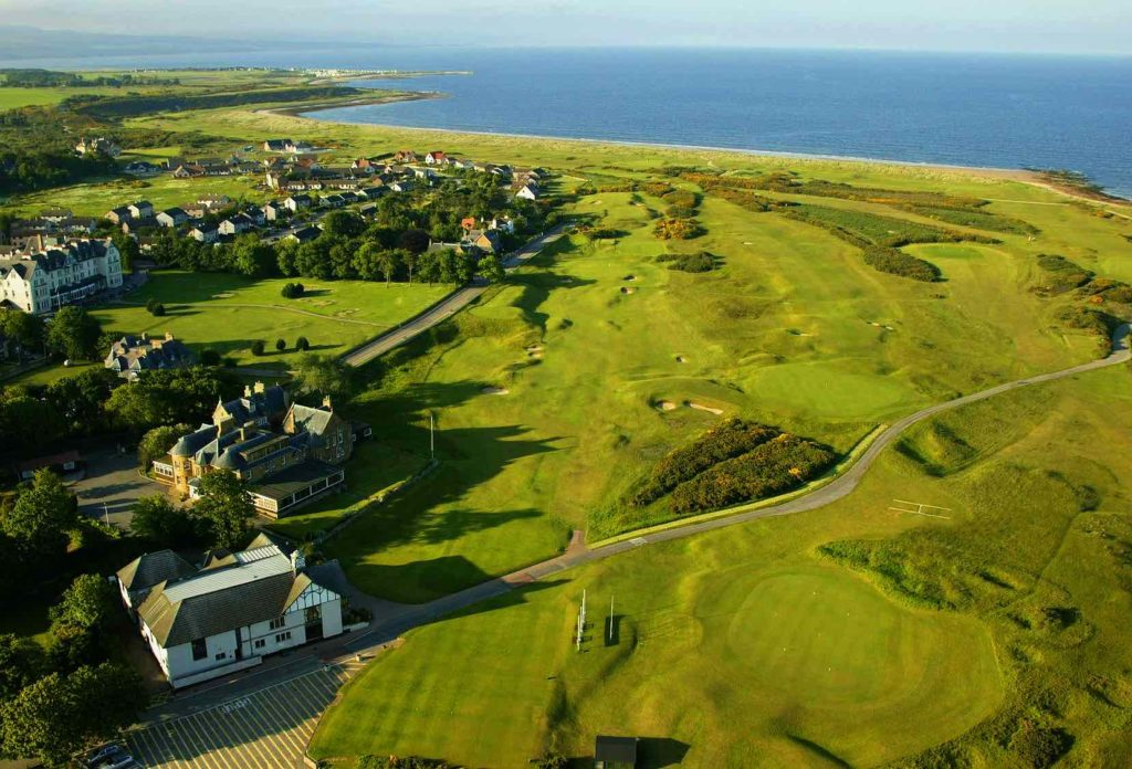 Aerial View of Royal Dornoch Golf Club